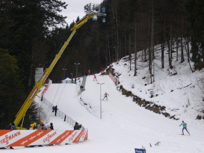 Leo30 als Beleuchtungsträger in Ruhpolding bei der Biathlon Weltmeisterschaft