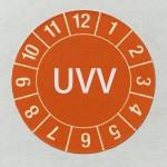 Bild UVV-Plakette